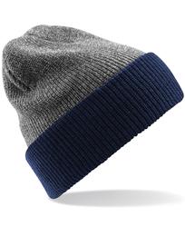 Two-Tone Beanie Knitted Hat ea9388ca47