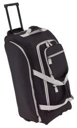 914e8046f59d 9P gurulós utazó táska, fekete-szürke